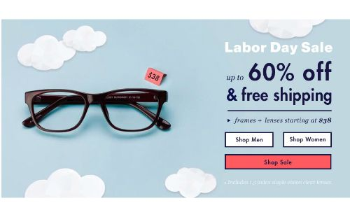Glasses USA Labor Day sale