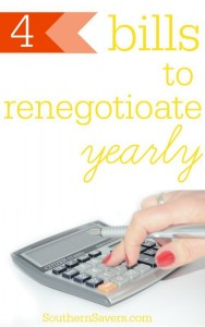 There are some bills that should be renegotiated every year to try to get the best deal. Here are my 4 great options!_1