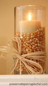 candle with corn