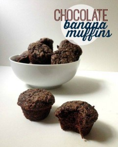 These chocolate banana muffins are a spin off a classic. They're easy to make, use basic ingredients, and they taste like brownies.