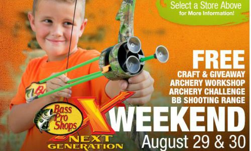 free bass pro next generation event