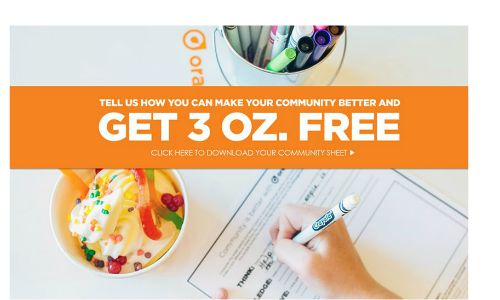 free frozen yogurt orange leaf
