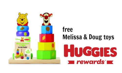 huggies rewards free melissa & doug toys
