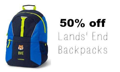 lands' end back pack