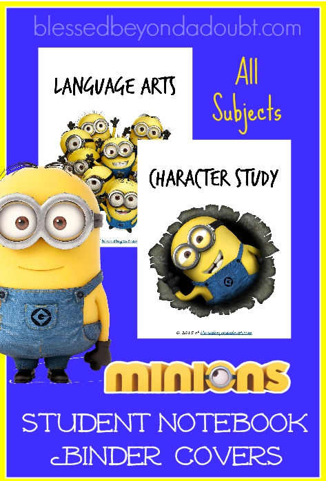 minions binder covers