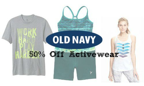 Old Navy: 50% Off Active Wear (post 4/6)