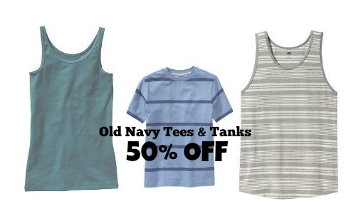 old navy tees & tanks