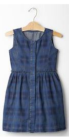 plaid chambray dress