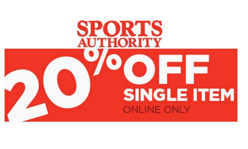 sports authority 20 off single item