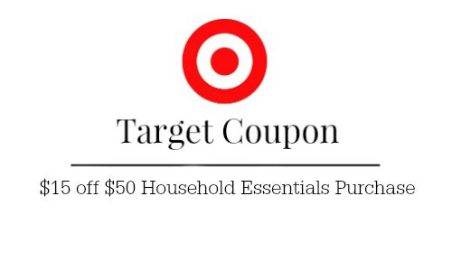 target household essentials coupon
