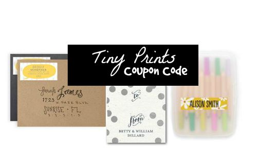 tinyprints coupon code 40 off