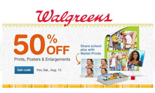 walgreens photo 50 off prints posters southern savers