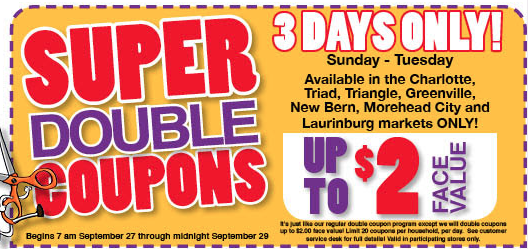 Harris Teeter Super Double Coupons