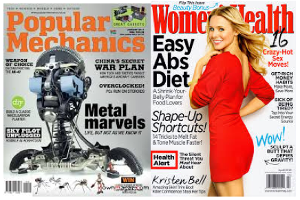 Free Magazine subscriptions women's health and popular mechanics
