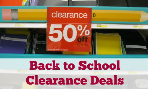 back to school clearance deals