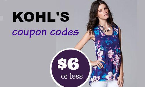 kohls coupons codes 1