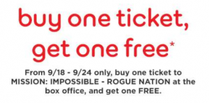 movie ticket coupon