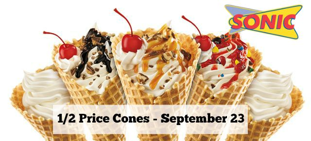 sonic half priced cones