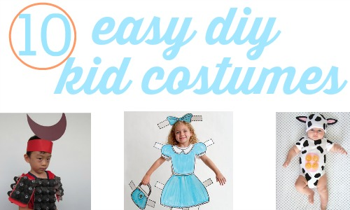10 easy DIY kid costumes using things you find around the house.