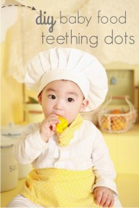 DIY baby food teething dots.  No more wasting leftover baby food!