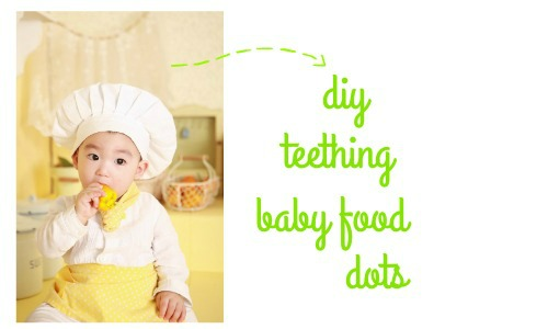 DIY frozen teething baby food dots.  No more wasting baby food when they don't finish the jar!