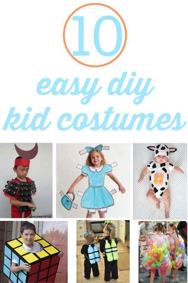 10 DIY Costumes For Kids Using Household Items