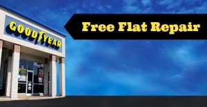 free flat tire repair