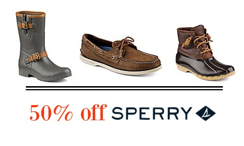50 off sperry boots