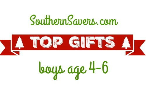 Here's a list of the top 10 gifts for boys age 4-6.