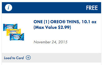 free oreo thins coupon
