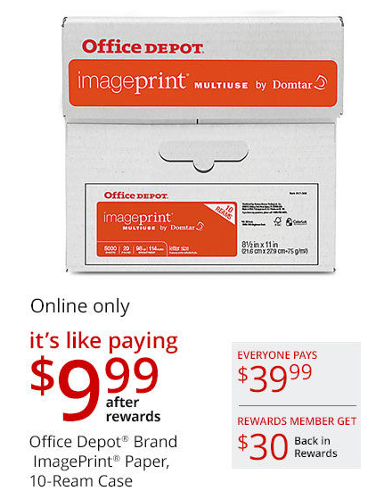 office depot printer paper