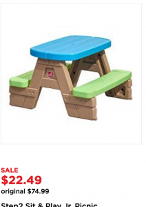 Outstanding Kohls Toy Deals Step2 Picnic Table 17 99 Reg 75 Pdpeps Interior Chair Design Pdpepsorg