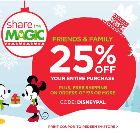 Disney store usa printable coupons