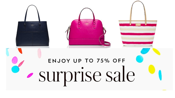 5. Whopping 75% discounts are dropped during the Kate Spade Surprise Sale. The exact time of the event changes, but we've tracked the sale in the past and seen it in February, May, August and November. 6. Bracelets, leather goods and handbags can be monogrammed for free. 7. The rare Kate Spade promo code is worth looking for.