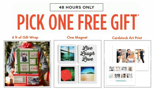 shutterfly free gifts