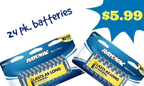 24-pack Rayovac Batteries