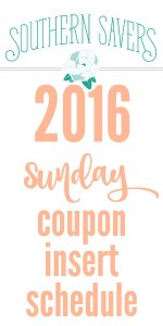 Get the list of all of the Sunday coupon inserts that are coming out in 2016. You'll be able to check which inserts will come in the Sunday newspaper.