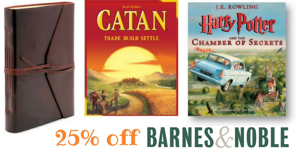 right now barnes noble is offering a printable coupon good for an extra 25 off you can also use coupon code wishlist online to get the savings there