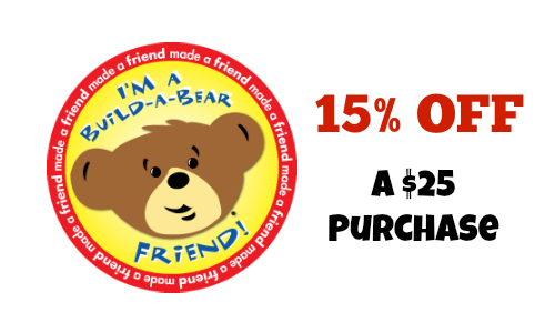 buildabear 15% Off $25 or more