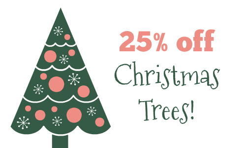 looking for a fresh cut christmas tree heres a great lowes deal for 25 off christmas trees you can even order your tree online and pick it up tomorrow