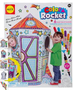 color a roccket