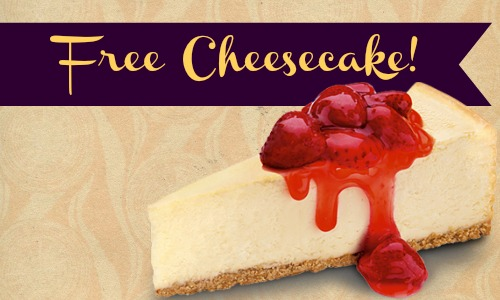 Cheesecake Factory Offer Free Cheesecake Southern Savers