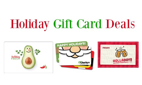 Holiday Gift Card Deals: O'Charley's, Chili's + More