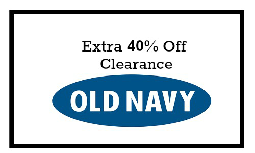 Old Navy: 40% Off Clearance