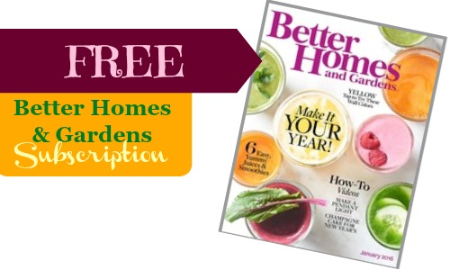Free Better Homes and Gardens Magazine Subscription Southern Savers