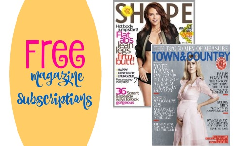 FREE magazine subscriptions