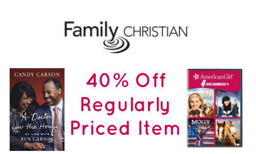 Family christian store coupons 40 off