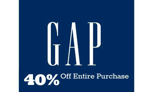 40% Off at the Gap Until Noon