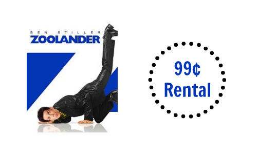 Zoolander Rental for 99¢ on Amazon