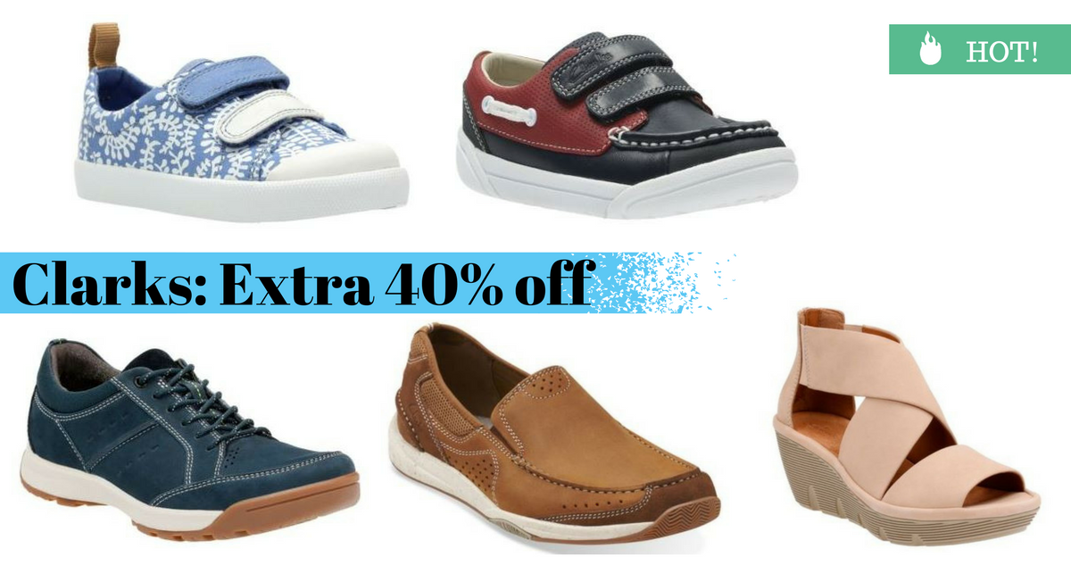256775c161c2 Here is a great deal from Clarks Shoes. You can get an extra 40% off sale  styles. Use the code FLASH to get the deal.